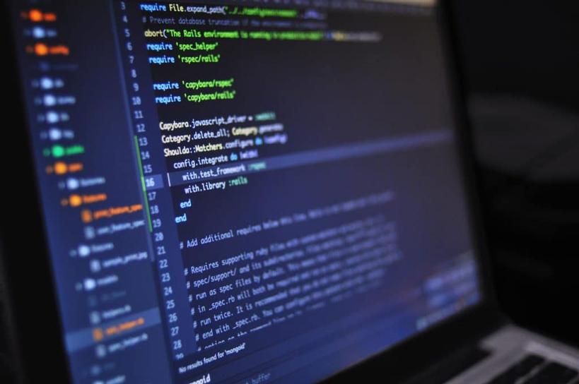 Software auf Laptop-Bildschirm