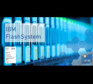 IBM FlashSystems dargestellt durch blaue Speicher