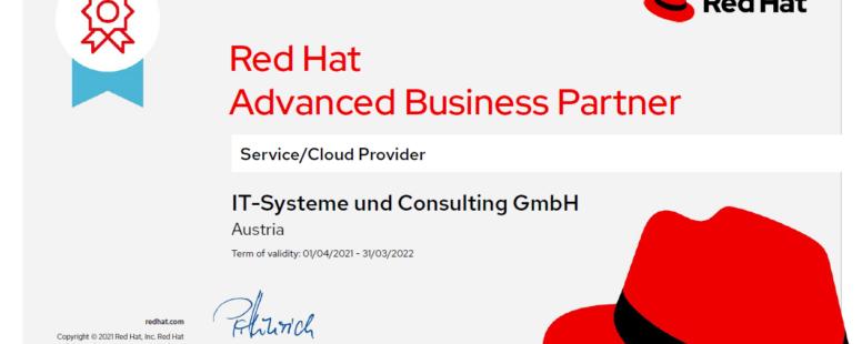 Neuer Status: Wir sind Advanced Business Partner von Red Hat!